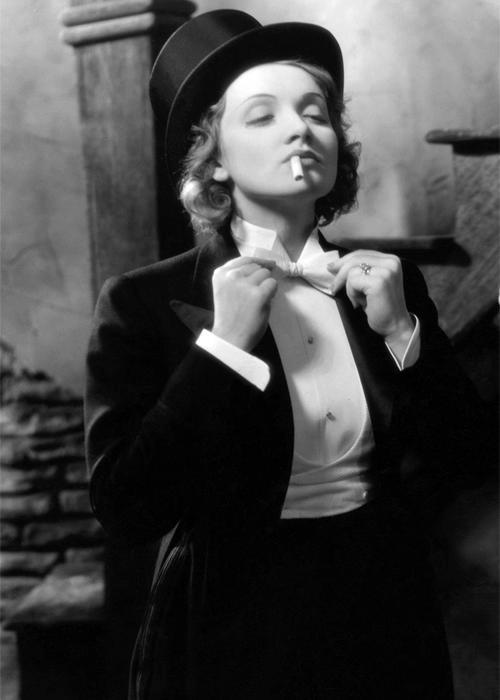 woman in tuxedo